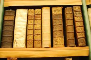 Åtta av bibliotekets ca 36 000 böcker.