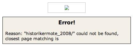 Error! Lund 2008