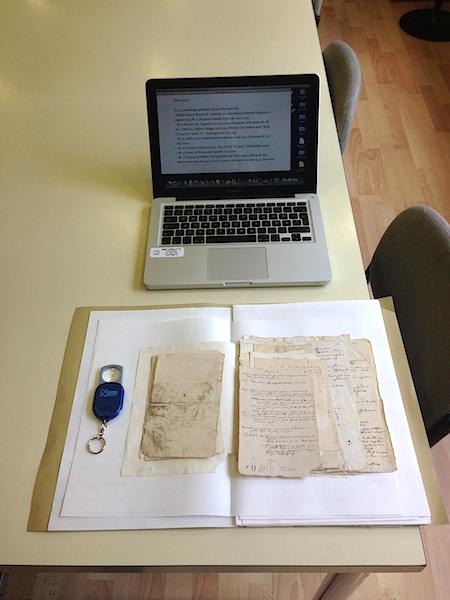 Dokument ur Löflingsamlingen i Botaniska trädgårdens arkiv i Madrid.
