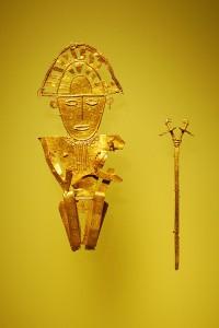 Fornamerikanska guldföremål från Museo del Oro, Bogota