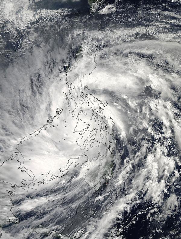 Orkanen Haiyan (Yolanda) över Filippinerna