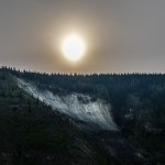 Morning sun over Dawson City, Yukon