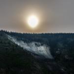 Morning sun over Dawson City, Yukon